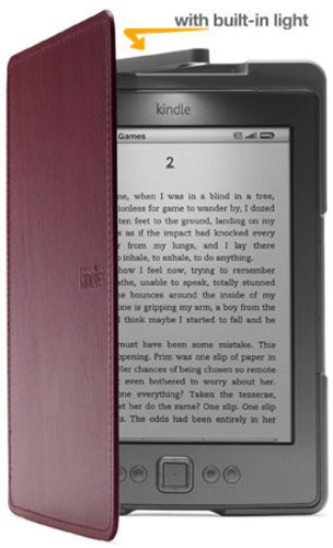 Cover Kindle con luce LED color viola