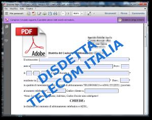 Disdetta Telecom Italia TELEFONO E ADSL - Modulo PDF COMPILABILE
