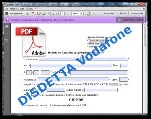 Disdetta Vodafone Telefono e ADSL Modulo PDF COMPILABILE