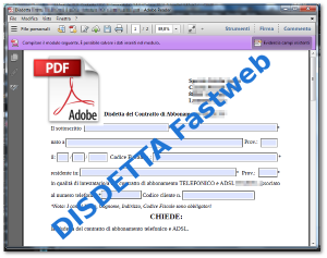 Disdetta Fastweb moduli compilabili PDF