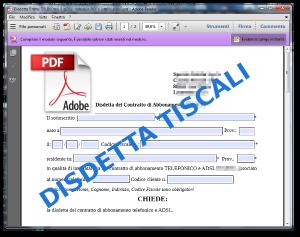 Disdetta Tiscali moduli compilabili PDF