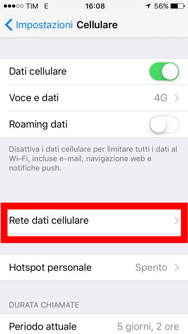 APN iPhone: come configurare Internet per Vodafone, Tim e Wind