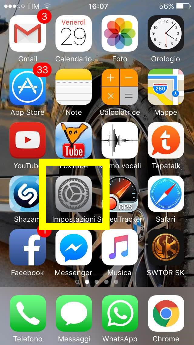 Impostazioni come configurare internet 3 iphone