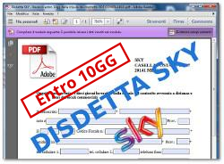 Modulo PDF Disdetta SKY 10gg