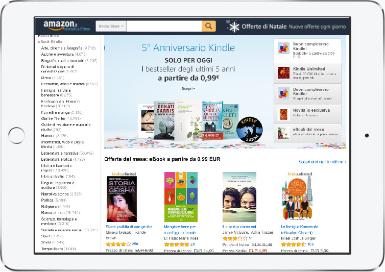 kindle store amazon italia miglior ebook reader 2019